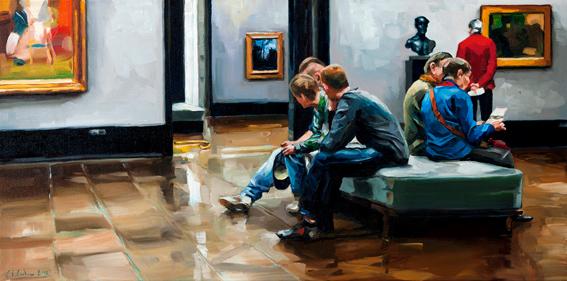 Sieben Kunstfreunde © Edward B. Gordon